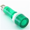 PACK OF 10 YuCo YC-9TRM-1G-12-10 GREEN LED 9MM 12V AC/DC