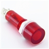PACK OF 10 YuCo YC-9TRM-1R-24-10 RED LED 9MM 24V AC/DC