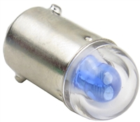 9mm B9E Bayonet LED Light AC/DC - Blue - 24V