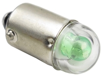 9mm B9E Bayonet LED Light AC/DC - Green - 24V