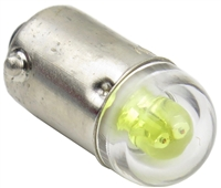 9mm B9E Bayonet LED Light AC/DC - Yellow - 24V