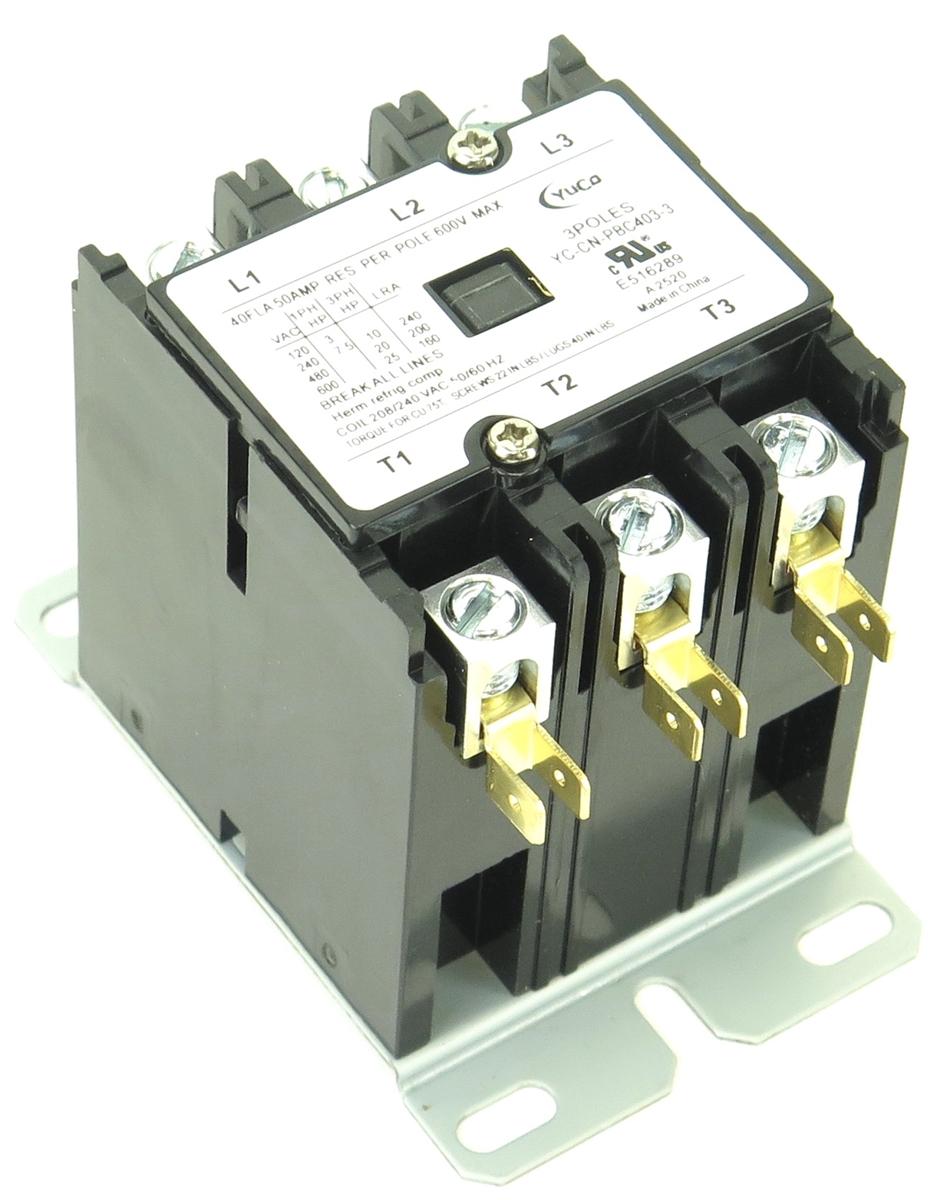 NEW CN-PBC603-120V Definite Purpose Contactor 60A 3Pole 120V Coil YC-CN-PBC603-2