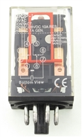 YC-REP-2P10A-6 YuCo ICE CUBE GENERAL PURPOSE RELAY OCTAL BASE 8PIN 2PDT 10AMP 12V AC-COIL