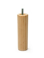 TAPERED ROUND WOODEN LEG | HEIGHT 200mm | THREAD 3/8 bsw