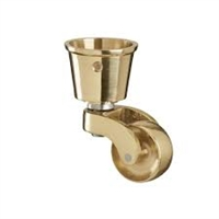 BRASS CASTOR & CUP FITTING