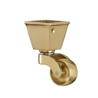 BRASS CASTOR | SQUARE CUP | 32 mm