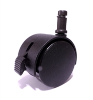 HOODED TWIN WHEEL CASTORS | BRAKE | DIAMETER 50mm