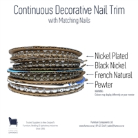 UPHOLSTERY NAIL TRIM | CONTINUOUS ROLL | NICKEL PLATED