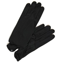 Nylon Gloves Deluxe With Snap in Colors Black
