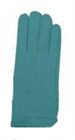 Nylon Gloves Deluxe With Snap Turquoise