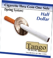 Cigarette Through Half Dollar One Side Spring Tango