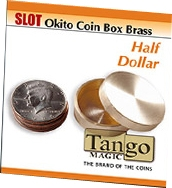 Slot Okito Coin Box Brass Half Dollar Tango