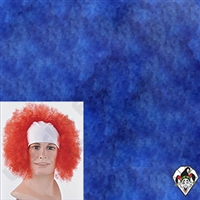 Clowning | Apparel | WIGS | Bald Curly Wigs | Blue