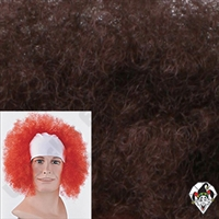 Clowning | Apparel | WIGS | Bald Curly Wigs | Brown
