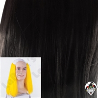 Clowning | Apparel | WIGS | Bald Straight Brown & Black | Black