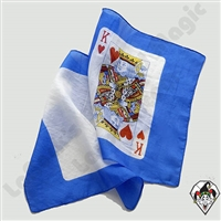 New Stuff | 11-22-11 | 11-23-11 | SILK PRINTED | King of Hearts Card Silk 9 inch 2 piece set