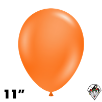 Tuftex 11 Inch Round Standard Orange Balloons 100ct