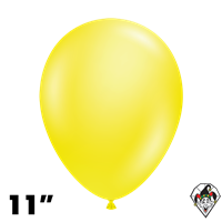 Tuftex 11 Inch Round Crystal Yellow Balloons 100ct