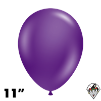 Tuftex 11 Inch Round Crystal Purple Balloons 100ct