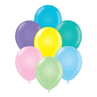 Tuftex 11 Inch Round Pastel Assortment Balloons 100ct