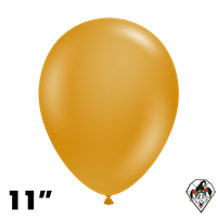 Tuftex 11 Inch Round Metallic Gold Balloons 100ct