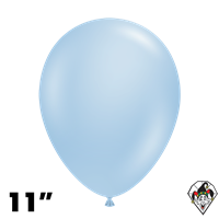 TUFTEX 11 Inch Round Pearl Sky Blue Balloons 100ct