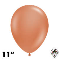 Tuftex 11 Inch Round Deluxe Burnt Orange Balloons 100ct