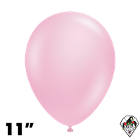 TUFTEX 11 Inch Round Pearl Shimmering Pink Balloons 100ct