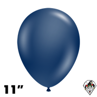 TUFTEX 11 Inch Round Metallic Midnight Blue Balloons 100ct