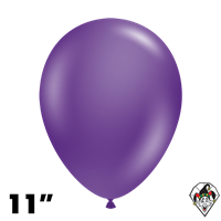 TUFTEX 11 Inch Round Metallic Concord Grape Balloons 100ct