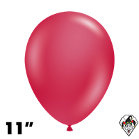 TUFTEX 11 Inch Round Metallic Starfire Red Balloons 100ct