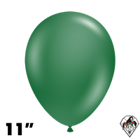 TUFTEX 11 Inch Round Metallic Forest Green Balloons 100ct