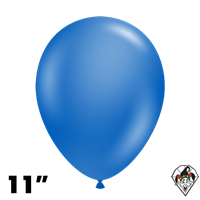 TUFTEX 11 Inch Round Metallic Blue Balloons 100ct