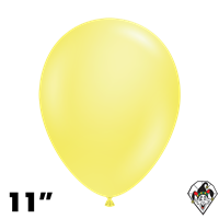 TUFTEX 11 Inch Round Pearl Yellow Balloons 100ct