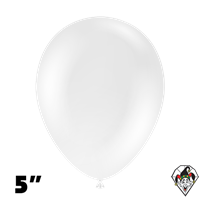 Tuftex 5 Inch Round Crystal Clear Balloons 50ct