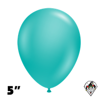 Tuftex 5 Inch Round Deluxe Teal Balloons 50ct