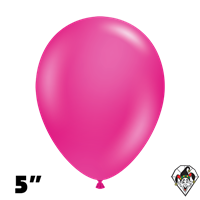 Tuftex 5 Inch Round Deluxe Hot Pink Balloons 50ct