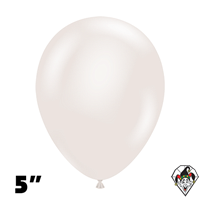 Tuftex 5 Inch Round Pearl White Balloons 50ct