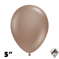 Tuftex 5 Inch Round Deluxe Cocoa Balloons 50ct