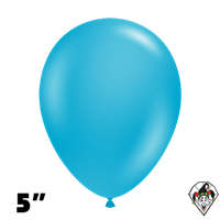 Tuftex 5 Inch Round Deluxe Turquoise Balloons 50ct