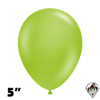 Tuftex 5 Inch Round Deluxe Lime Green Balloons 50ct