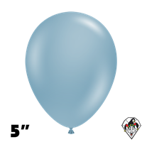 Tuftex 5 Inch Round Pastel Blue Slate Balloons 50ct