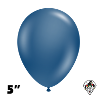 Tuftex 5 Inch Round Deluxe Navy Balloons 50ct