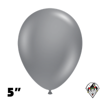 Tuftex 5 Inch Round Deluxe Gray Smoke Balloons 50ct