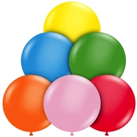 TUFTEX 17 Inch Round Standard Assortment Balloons 50ct