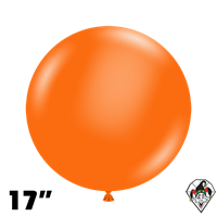 TUFTEX 17 Inch Round Standard Orange Balloons 50ct
