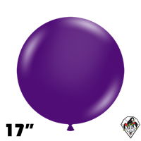 TUFTEX 17 Inch Round Crystal Purple Balloons 50ct