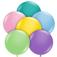 TUFTEX 17 Inch Round Pastel Assortment Balloons 50ct