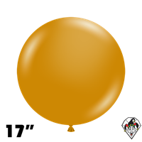 TUFTEX 17 Inch Round Metallic Gold Balloons 50ct