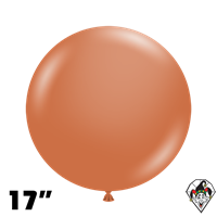 TUFTEX 17 Inch Round Deluxe Burnt Orange Balloons 50ct